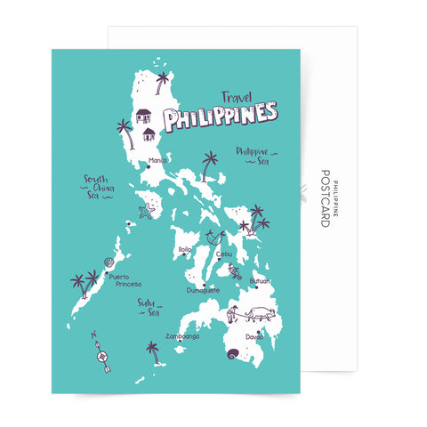 Travel Philippines Sticker Sheets Set Of 5 + Free Postcard  Philippine