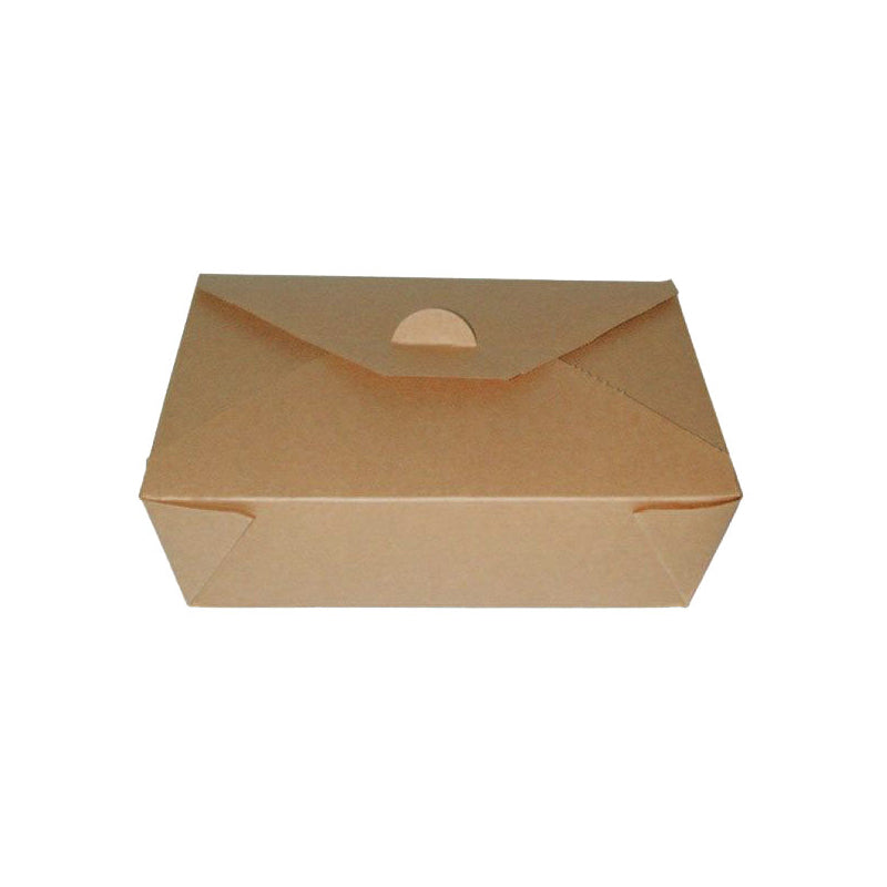 "Brown Meal Box 8"" x 5.8"" x 2.63"""