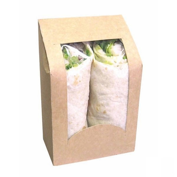Brown Wrap/Sandwich Sleeve with Window
