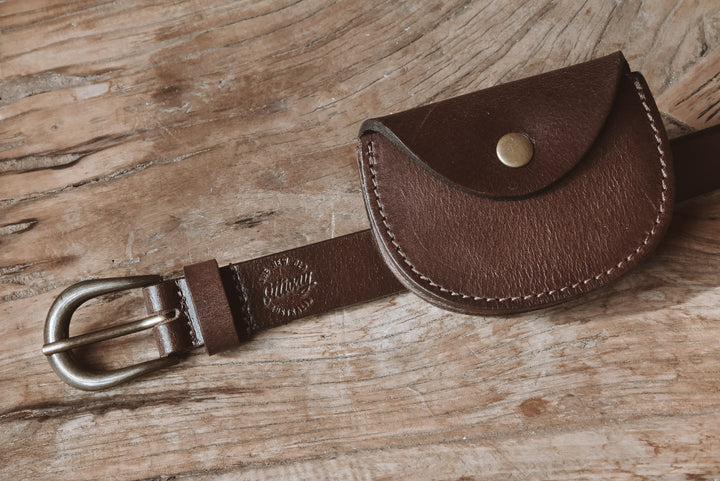 Chestnut Pouch Leather Waist Belt