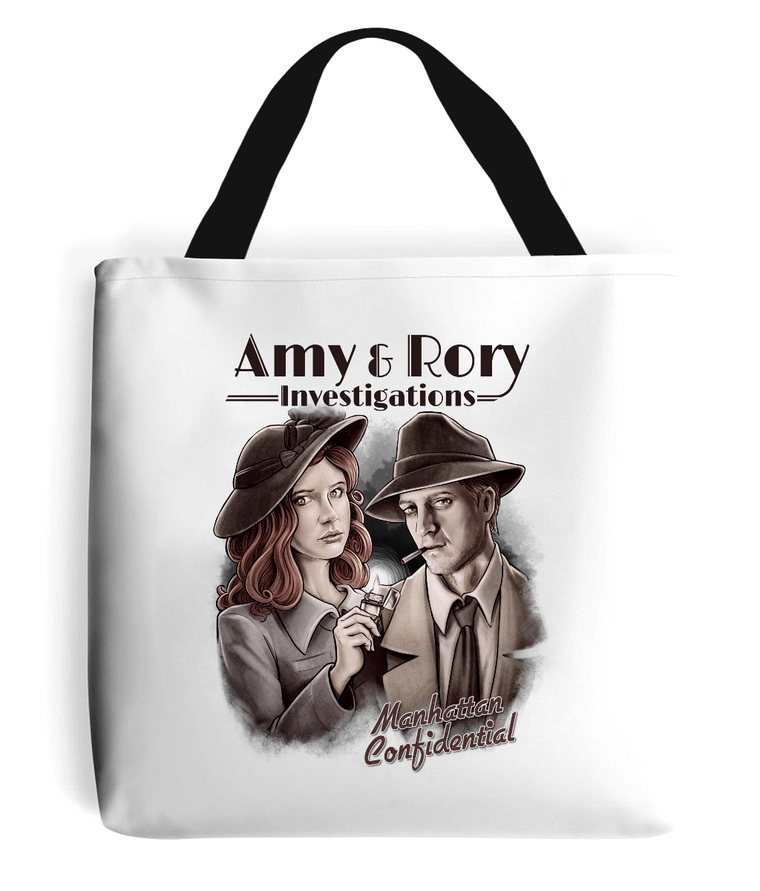 Doctor Who: Amy & Rory P.I Tote Bag