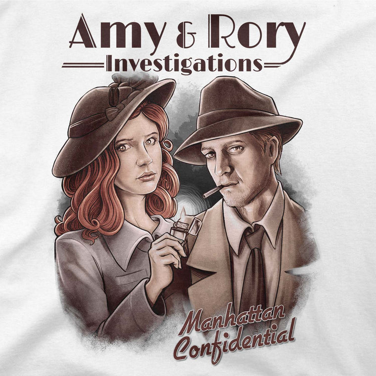 Doctor Who: Amy & Rory P.I Women's Flowy Tee