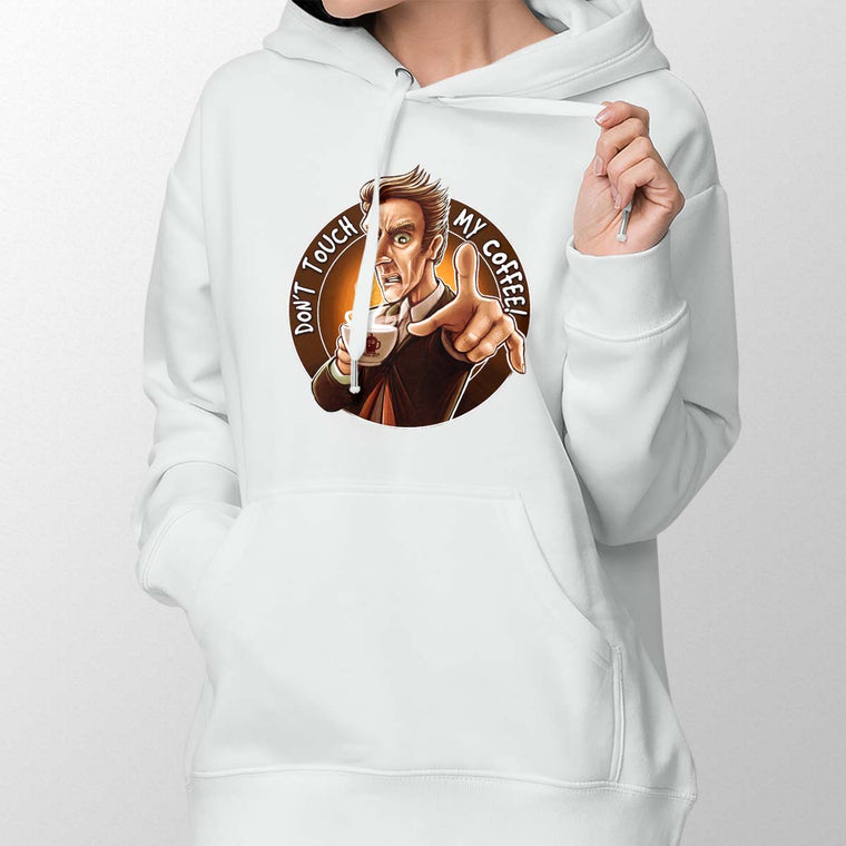 Doctor Who Don't Touch My Coffee Women's Pullover Hoodie