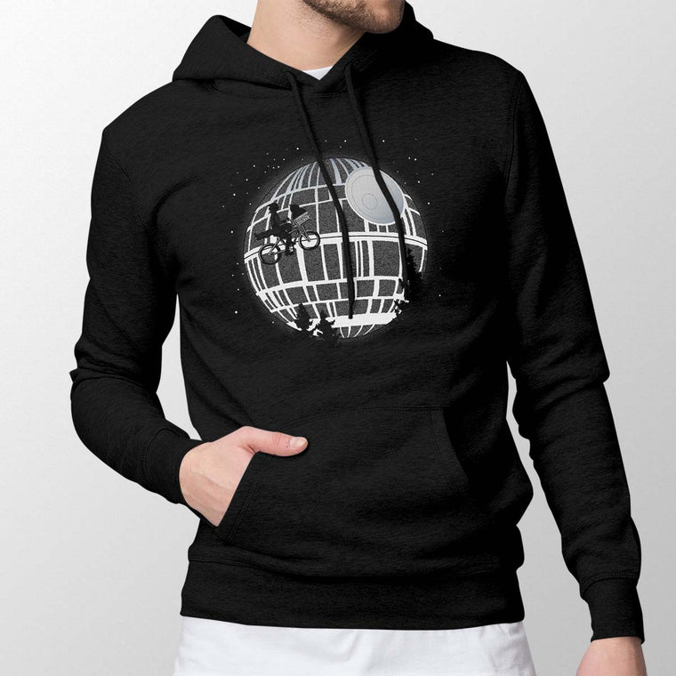 Fly Me To The Death Star Men's Pullover Hoodie