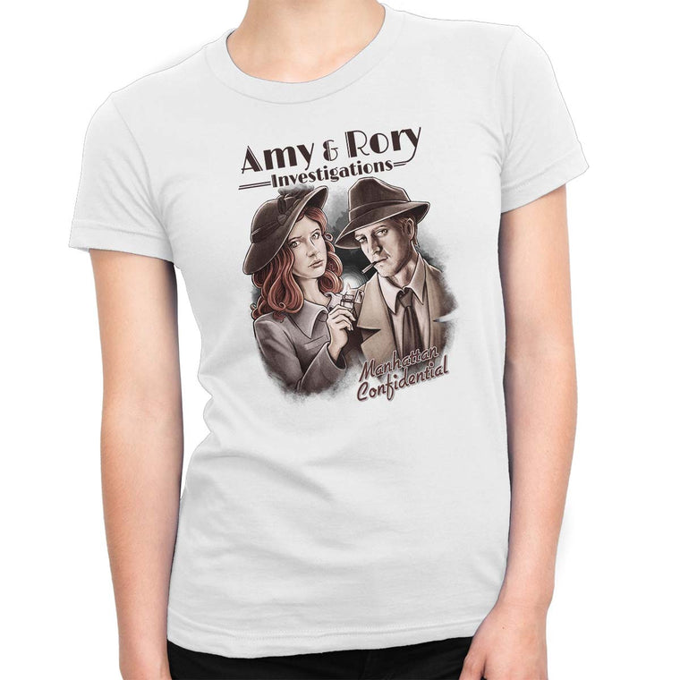 Doctor Who Amy & Rory P.I Women's Classic Fitted Tee