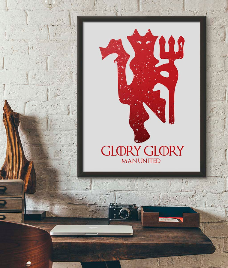 House Man United Poster