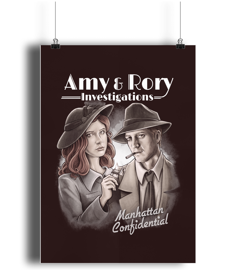 Doctor Who: Amy & Rory P.I Poster