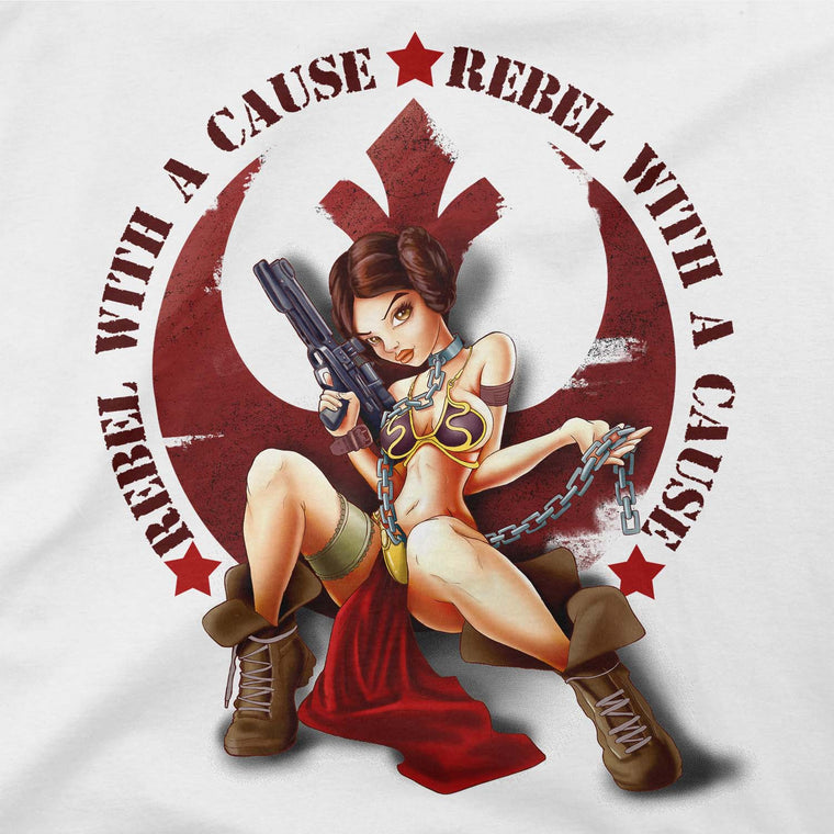 star wars rebel with a cause tee brown