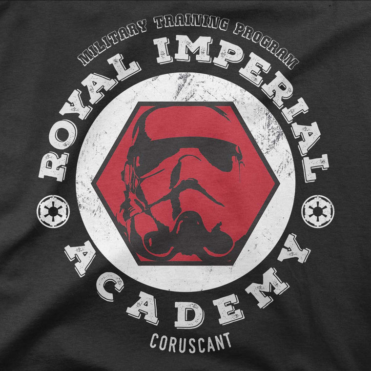 star wars imperial academy tshirt grey