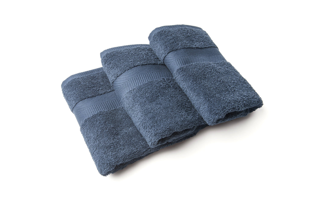 Royal touch - Dark Denim - Set van 3 Handdoeken (50 x 100 cm)