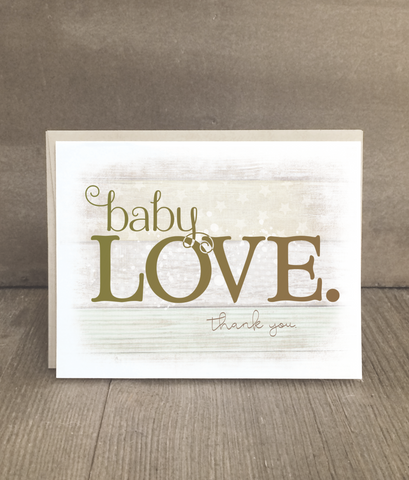 Baby Love Thank You Cards