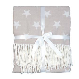 Beige Star Throw