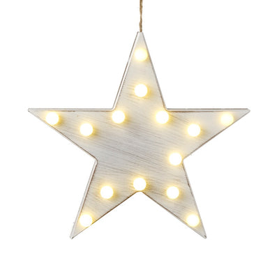 Small Hanging White LED Star