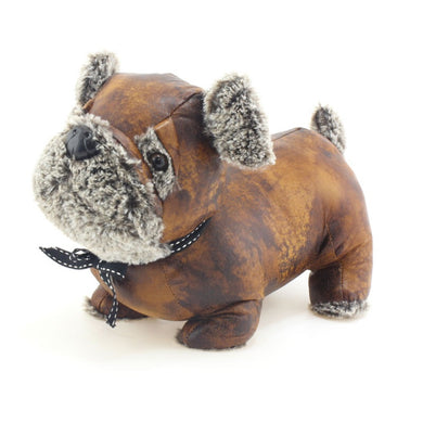 Pug Faux Leather Doorstop