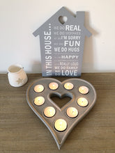 Grey Heart Shaped Tealight Holder