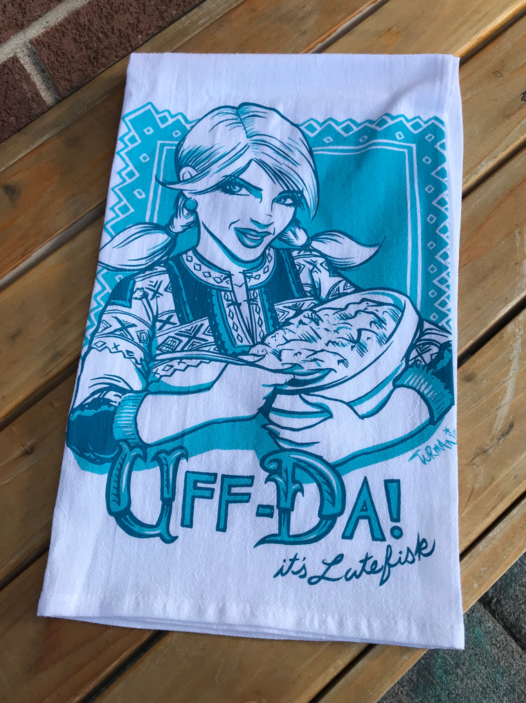 Uff Dah! Tea Towel