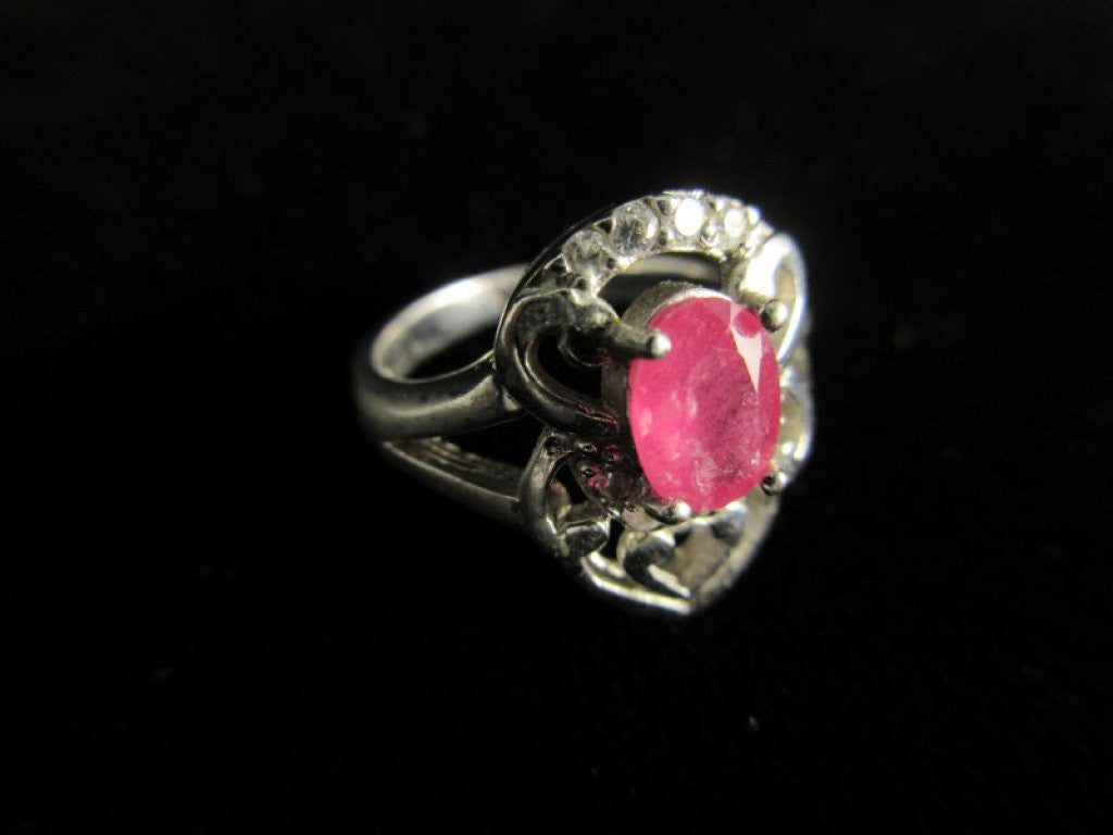 Ruby Gemstone Sterling Silver Size 6
