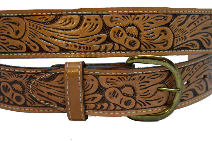 Men's Floral Design Belt