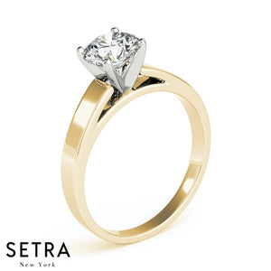 SOLITAIRE DIAMOND ENGAGEMENT RINGS 14K GOLD