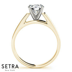 SOLITAIRES DIAMOND ENGAGEMENT 14K GOLD RINGS