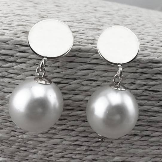 Blank Pearl Dangle Earrings