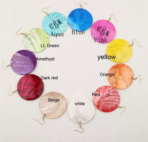 Colorful Shell Earrings
