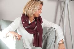 JADE SCARF IN BURGUNDY