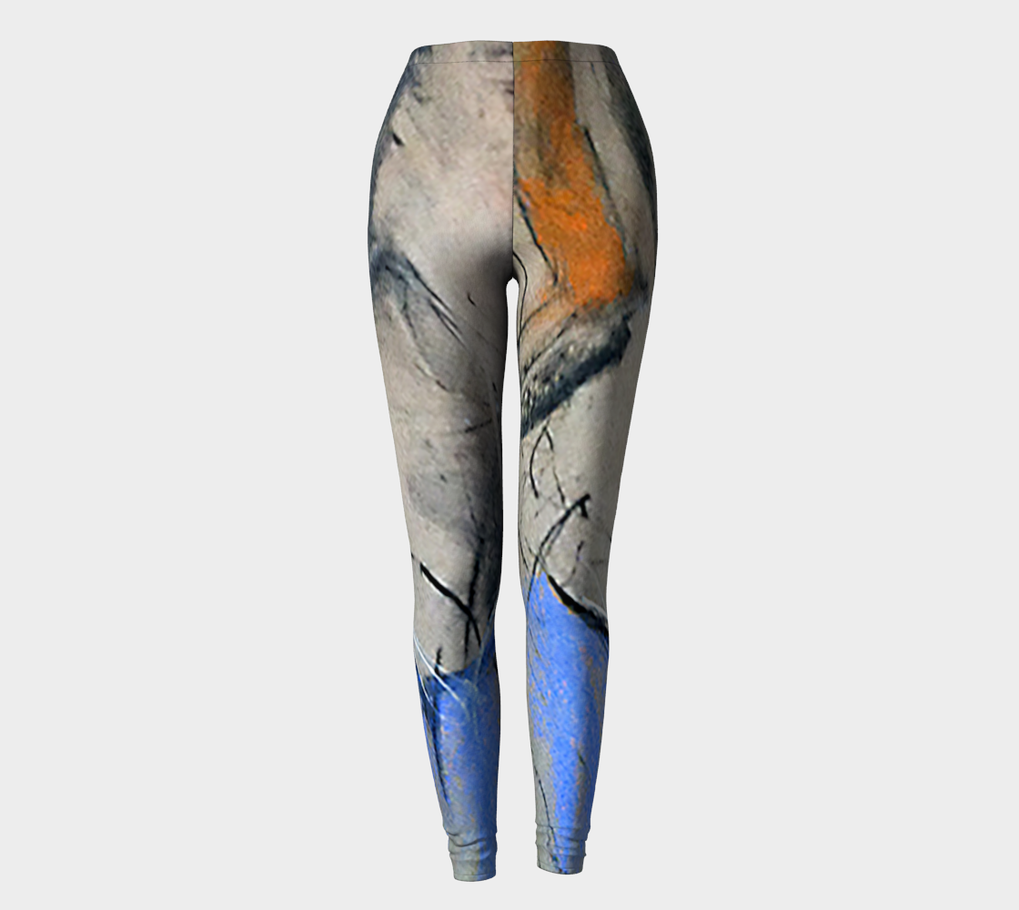 Blue Gestures Art Walk Leggings
