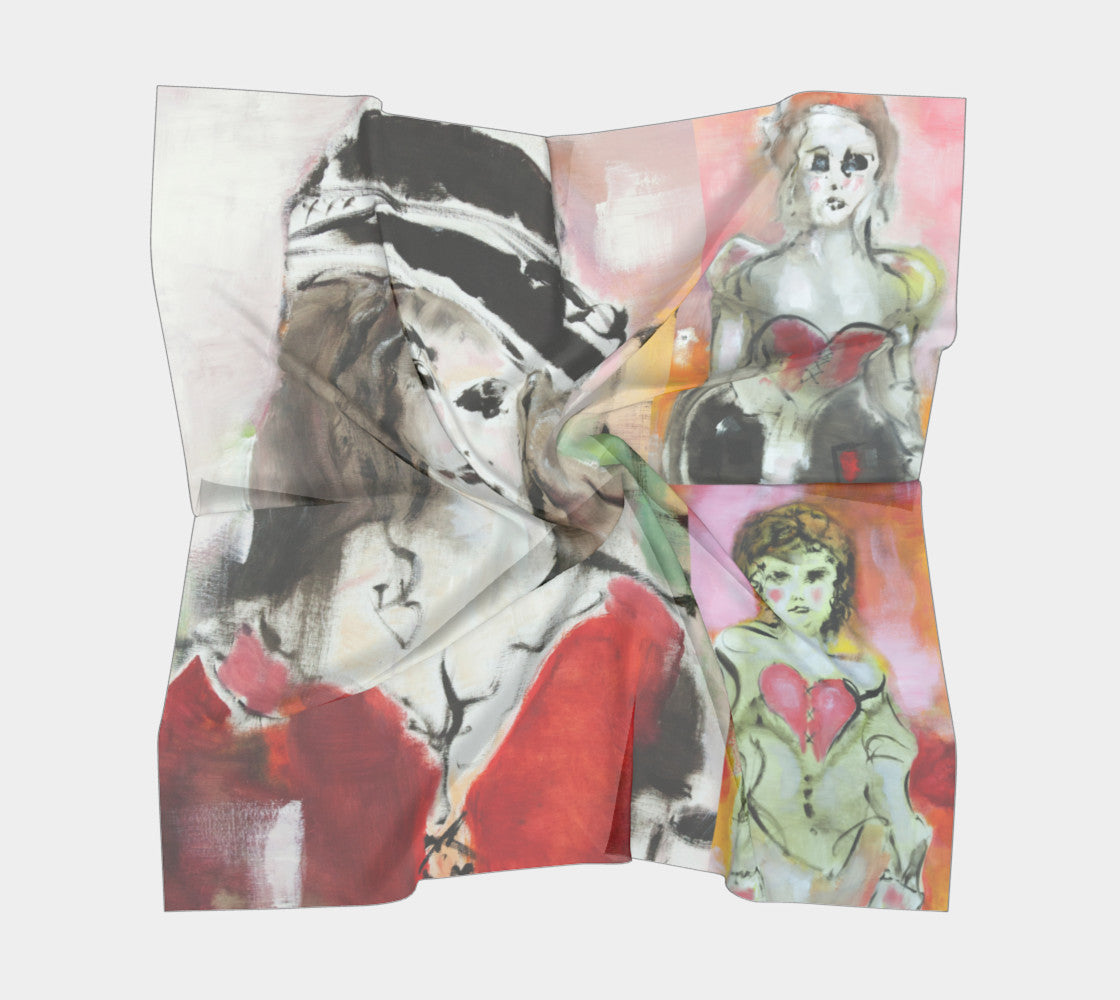 Silk Scarf - Paris Collage