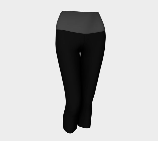 Black/Grey Yoga Capri