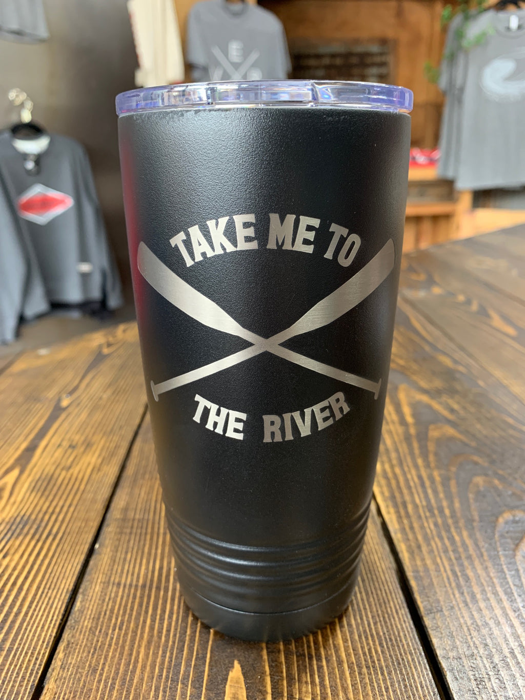 Black insulated cup 20 oz.