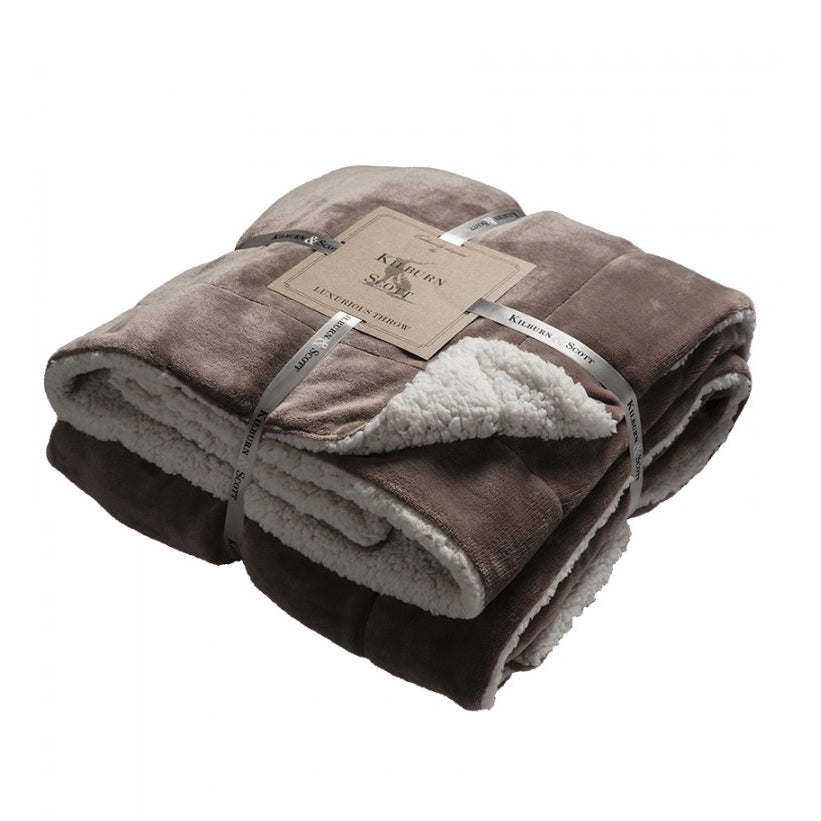 Kilburn & Scott Sherpa Throw Taupe