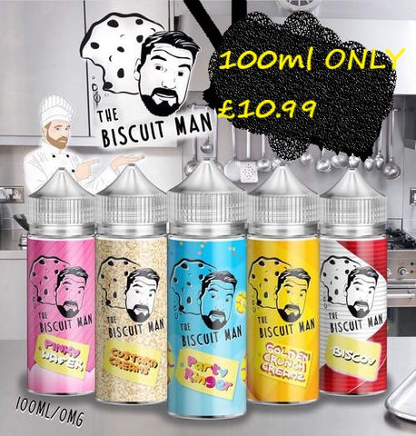 The Biscuit Man E Liquid Shortfill 100ml Pinky Wafer