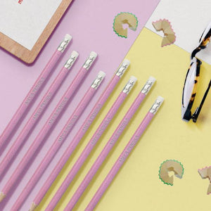 12 Personalised Pink Glitter Lead Pencils in a Pink Box - stamptastic-uk