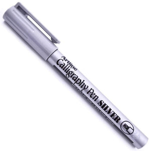 Silver Calligraphy pen - stamptastic-uk