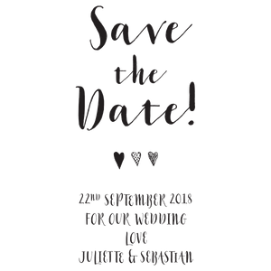"Calligraphy ""Save the Date"" - stamptastic-uk"