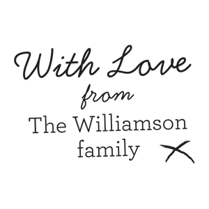 With Love from Family Elegant stamp - stamptastic-uk