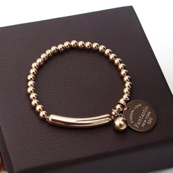 Fantastic Eternal Love New York Stainless Steel Ball Beads Bracelet