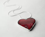 Circuit Board Heart Necklace - Rainbow