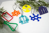 Chemistry - Set of 7 Ornaments
