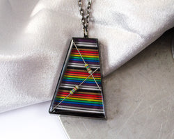 rainbow trapezoid necklace