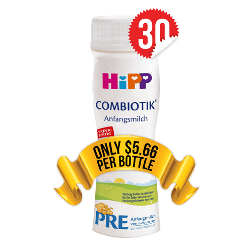 30 Pieces of HiPP Ready-to-Feed Germany Stage PRE (200ml)