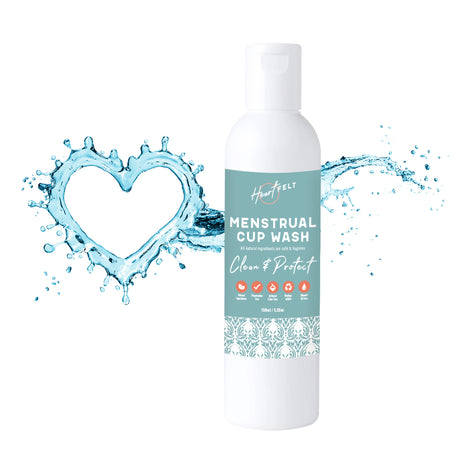 Menstrual Cup Wash Cleaner by Clean Cup (5.5 oz) All Natural, Plant Based, Non Allergenic Formula
