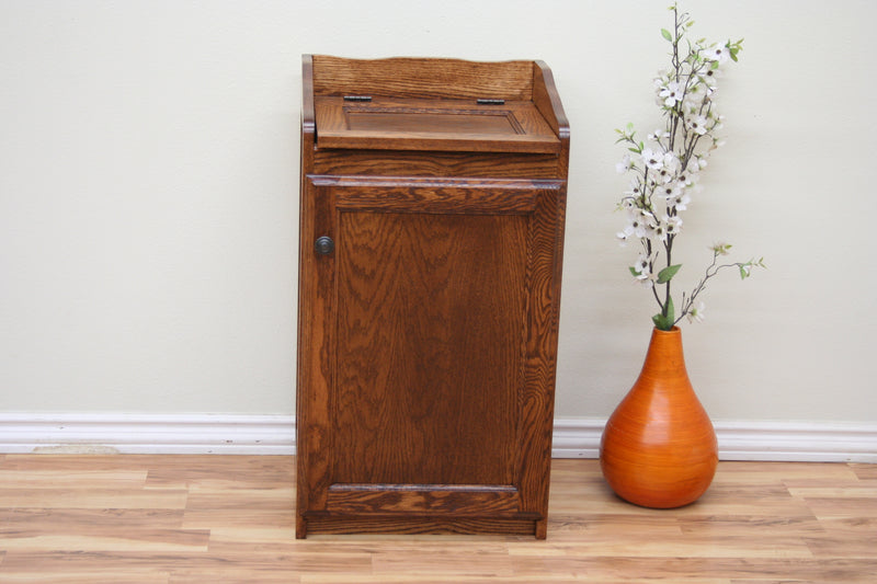 Casano Traditional Oak Trash Recycle Pet Food Bin Holder