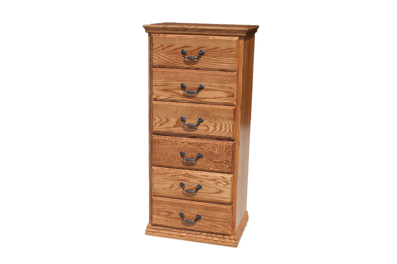 C1T455 Casano Traditional Oak 6-Drawer Lingerie Chest
