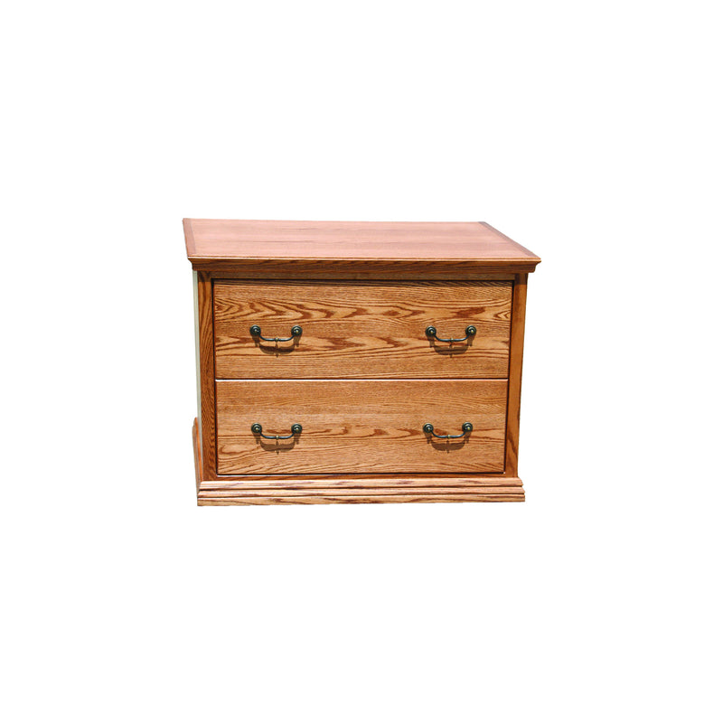 Casano Traditional Alder 2-Drawer Locking Lateral File Cabinet