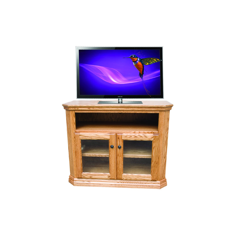 "Casano Traditional Alder 38"" Clipped Corner TV Console"