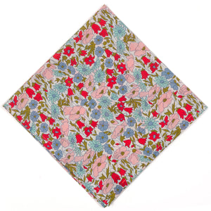 Liberty of London Poppy Daisy Pocket Square