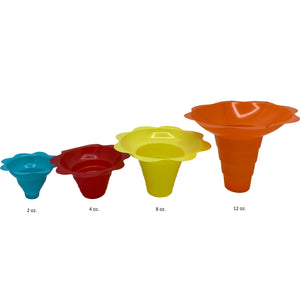 Shave Ice Flower Cups - Small (4 Oz.)