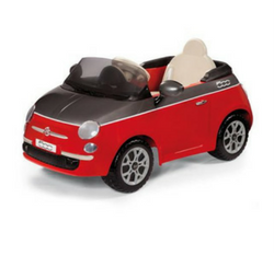 red fiat 6v kids ride on car